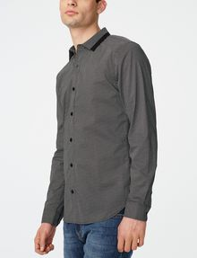 ARMANI EXCHANGE Microprint Button-Down Shirt Long sleeve shirt Man d