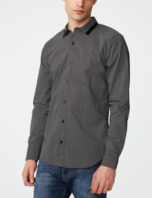ARMANI EXCHANGE Microprint Button-Down Shirt Long sleeve shirt Man f
