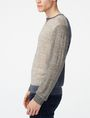 ARMANI EXCHANGE Pieced Linen Sweater Crew Neck Man d