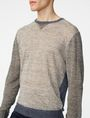 ARMANI EXCHANGE Pieced Linen Sweater Crew Neck Man e