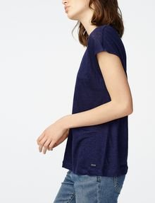 ARMANI EXCHANGE Linen Cap-Sleeve Top Shell Woman d