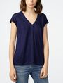 ARMANI EXCHANGE Linen Cap-Sleeve Top Shell Woman f