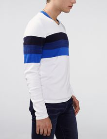 ARMANI EXCHANGE Gradient Stripe V-Neck V-Neck U d