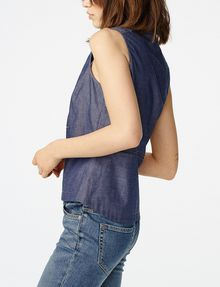 ARMANI EXCHANGE Paneled Chambray Popover Shell D d