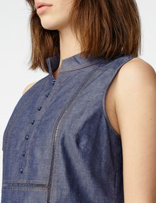 ARMANI EXCHANGE Paneled Chambray Popover Shell D e