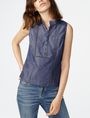 ARMANI EXCHANGE Paneled Chambray Popover Shell Woman f