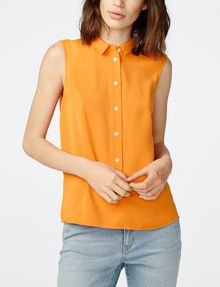 ARMANI EXCHANGE Pleat-Back Popover Shell [*** pickupInStoreShipping_info ***] f