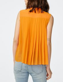 ARMANI EXCHANGE Pleat-Back Popover Shell [*** pickupInStoreShipping_info ***] r