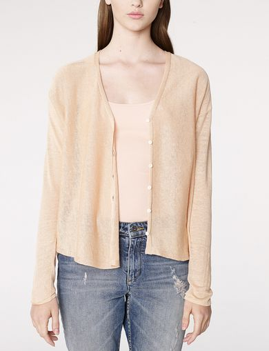ARMANI EXCHANGE Lightweight Sheer Cardigan Woman front