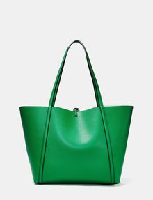 ARMANI EXCHANGE Reversible Pop Color Tote Shopper D r