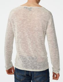 ARMANI EXCHANGE Wide-Neck Burnout Tee Crew Neck U r
