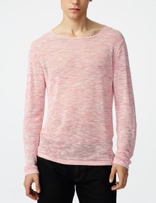 ARMANI EXCHANGE Wide-Neck Burnout Tee Sweatshirt U f