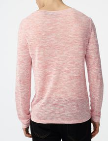 ARMANI EXCHANGE Wide-Neck Burnout Tee Sweatshirt Man r