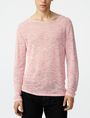 ARMANI EXCHANGE Wide-Neck Burnout Tee Sweatshirt Man f