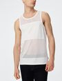 ARMANI EXCHANGE Pieced Mesh Tank Sleeveless Tee Man f