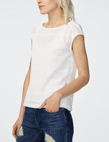ARMANI EXCHANGE Mesh Boatneck Top Shell [*** pickupInStoreShipping_info ***] d