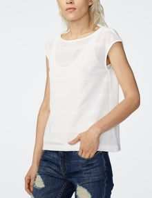 ARMANI EXCHANGE Mesh Boatneck Top Shell [*** pickupInStoreShipping_info ***] f