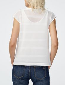 ARMANI EXCHANGE Mesh Boatneck Top Shell [*** pickupInStoreShipping_info ***] r