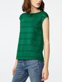 ARMANI EXCHANGE Mesh Boatneck Top Shell Woman d