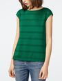 ARMANI EXCHANGE Mesh Boatneck Top Shell Woman f