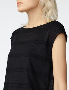 ARMANI EXCHANGE Mesh Boatneck Top Shell D e