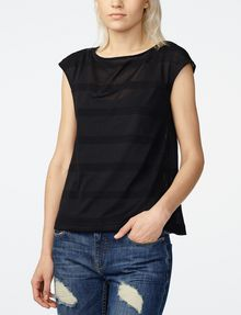 ARMANI EXCHANGE Mesh Boatneck Top Shell D f