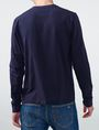 ARMANI EXCHANGE Textured Plaid Long-Sleeve Tee Crew Neck Man r