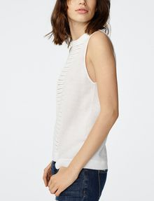ARMANI EXCHANGE Open-Knit Tank Crew Neck D d