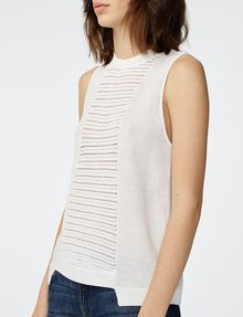 ARMANI EXCHANGE Open-Knit Tank Crew Neck D e