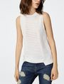 ARMANI EXCHANGE Open-Knit Tank Crew Neck D f
