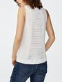 ARMANI EXCHANGE Open-Knit Tank Crew Neck D r