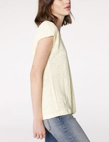 ARMANI EXCHANGE Linen Cap-Sleeve Top Blouse D d