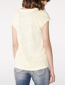 ARMANI EXCHANGE Linen Cap-Sleeve Top Blouse Woman r