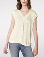ARMANI EXCHANGE Linen Cap-Sleeve Top Blouse Woman f