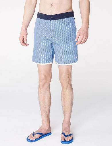 ARMANI EXCHANGE Tonal Microprint Swim Short Man front