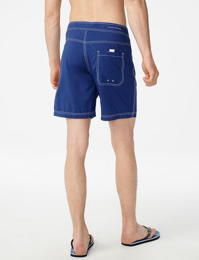ARMANI EXCHANGE Double-Stitch Swim Trunk Man retro