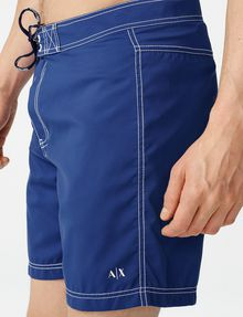 ARMANI EXCHANGE Double-Stitch Swim Trunk Swim Trunk U e