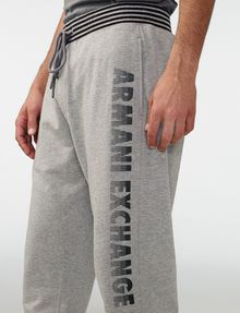 ARMANI EXCHANGE Striped Logo Sweats Jogger Man e