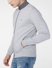 ARMANI EXCHANGE Stripe Mockneck Zip-Up Zip-up U d