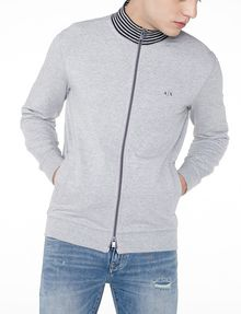 ARMANI EXCHANGE Stripe Mockneck Zip-Up Zip-up U f