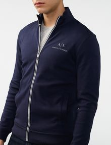 ARMANI EXCHANGE Signature Piping Mockneck Jacket Zip-up Man e