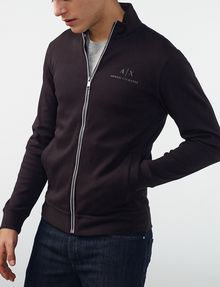 ARMANI EXCHANGE Signature Piping Mockneck Jacket Zip-up U d