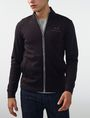 ARMANI EXCHANGE Signature Piping Mockneck Jacket Zip-up U f