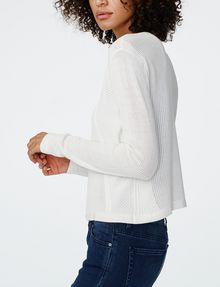 ARMANI EXCHANGE Multi-Stitch Open-Knit Cardigan Cardigan Woman d