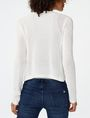 ARMANI EXCHANGE Multi-Stitch Open-Knit Cardigan Cardigan Woman r