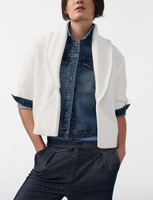 ARMANI EXCHANGE Draped Shawl-Collar Sweater Cardigan D f