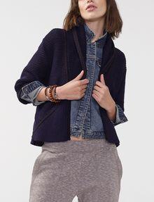 ARMANI EXCHANGE Draped Shawl-Collar Sweater Cardigan D f