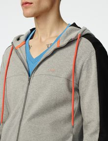 ARMANI EXCHANGE Colorblock Zip-Up Hoodie Zip-up U e