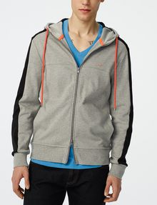 ARMANI EXCHANGE Colorblock Zip-Up Hoodie Zip-up U f
