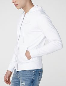 ARMANI EXCHANGE A|X Signature Track Jacket Hoodie Zip-up U d